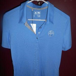 Adidas Golf Alro Steel/Plastics Logo Womens Polo